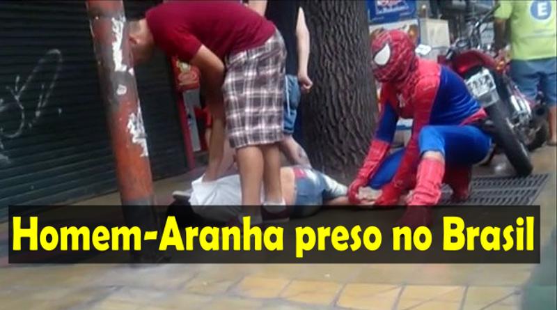 Homem-Aranha foi preso depois de assaltar açougue em Minas Gerais